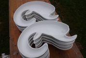 Brotschüssel in Form eines stilisierten Ziegenkopfes