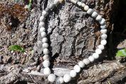 Kette aus Rauchbrand - Perlen
